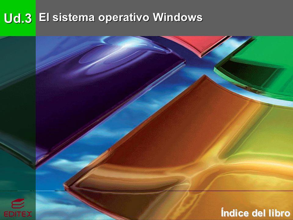 Ud.3 El sistema operativo Windows Índice del libro