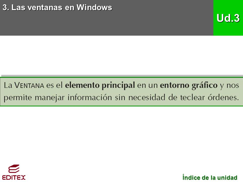 3. Las ventanas en Windows