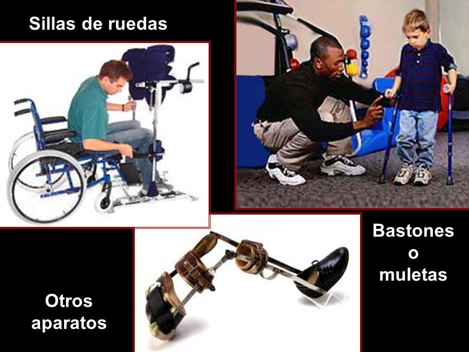 Sillas de ruedas Bastones o muletas Otros aparatos