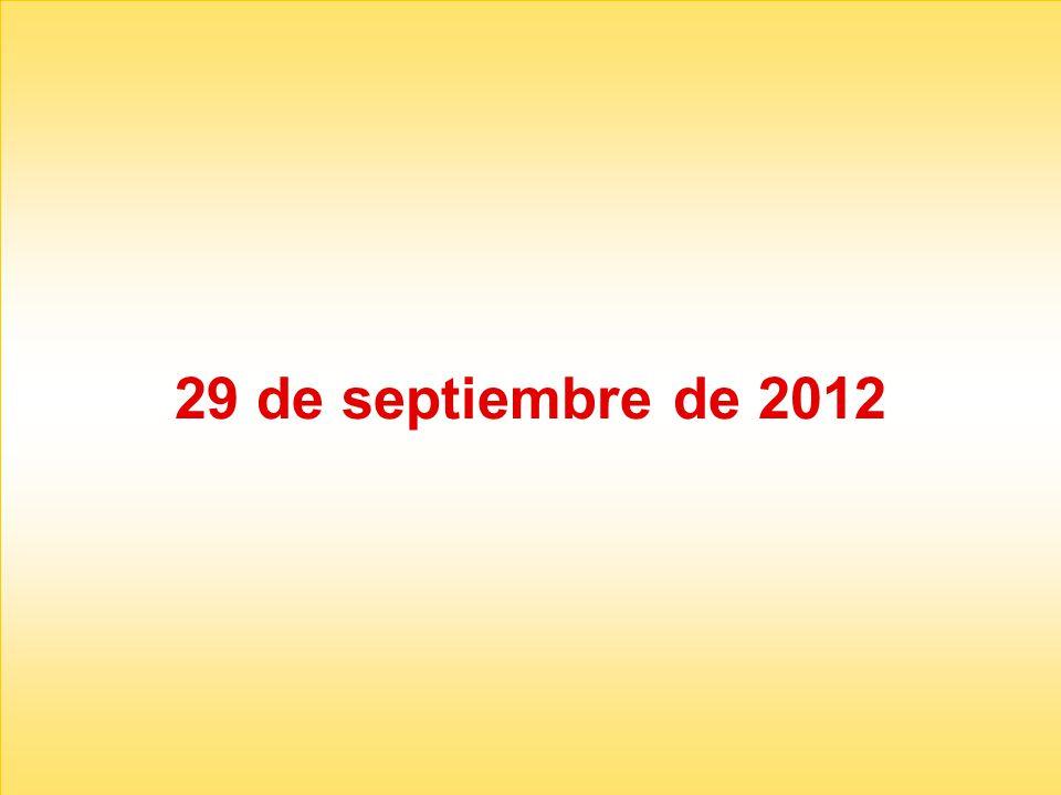 29 de septiembre de 2012