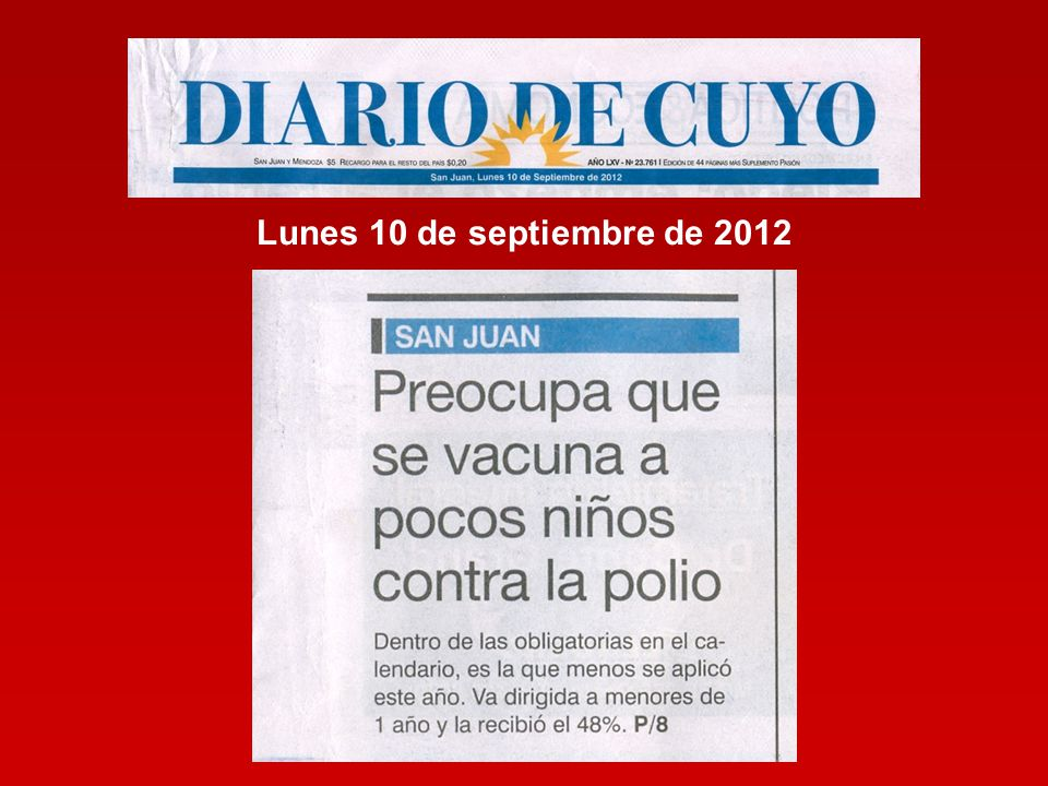 Lunes 10 de septiembre de 2012