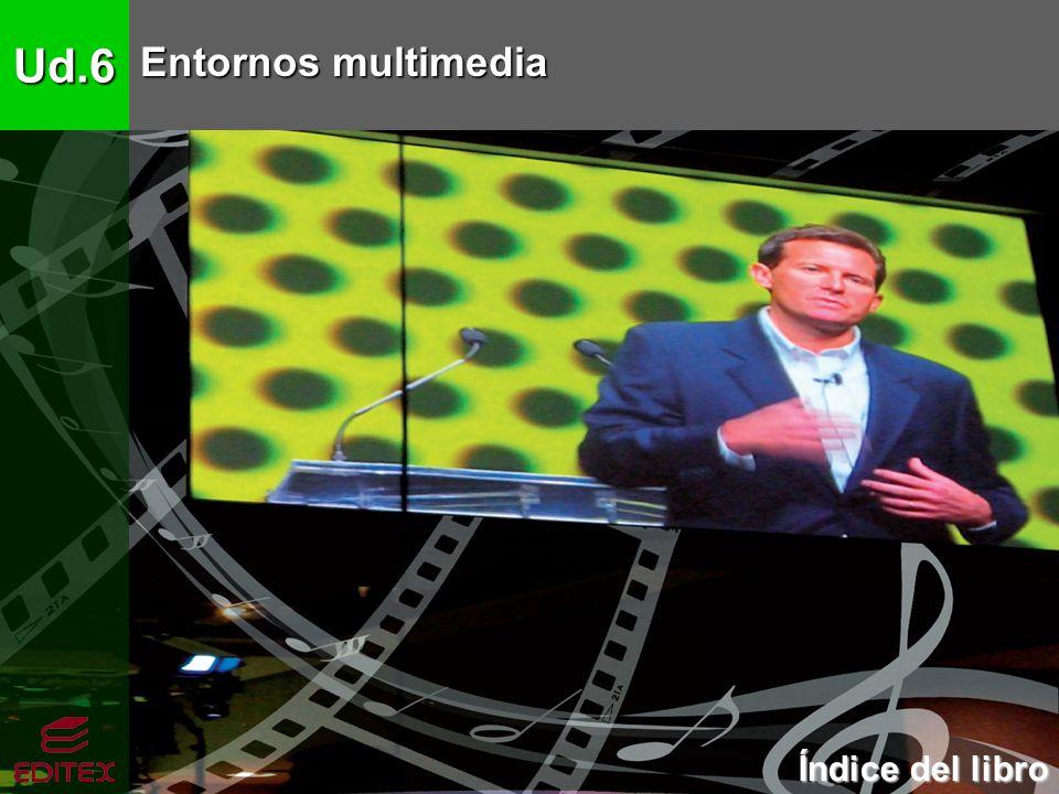 Ud.6 Entornos multimedia Índice del libro