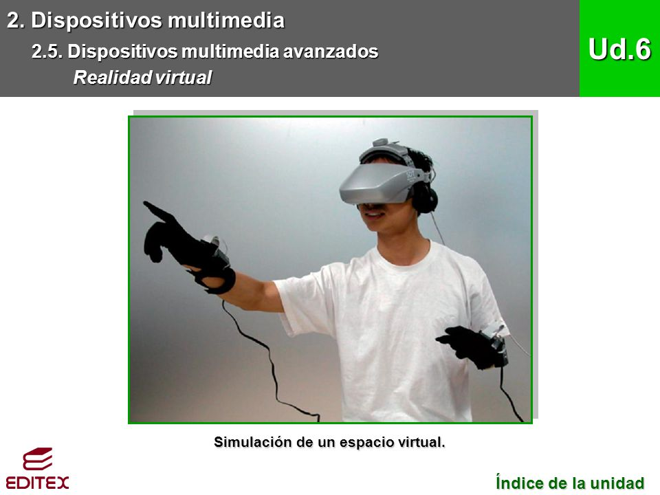 Simulación de un espacio virtual.