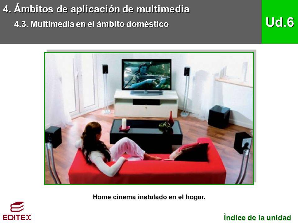 Home cinema instalado en el hogar.