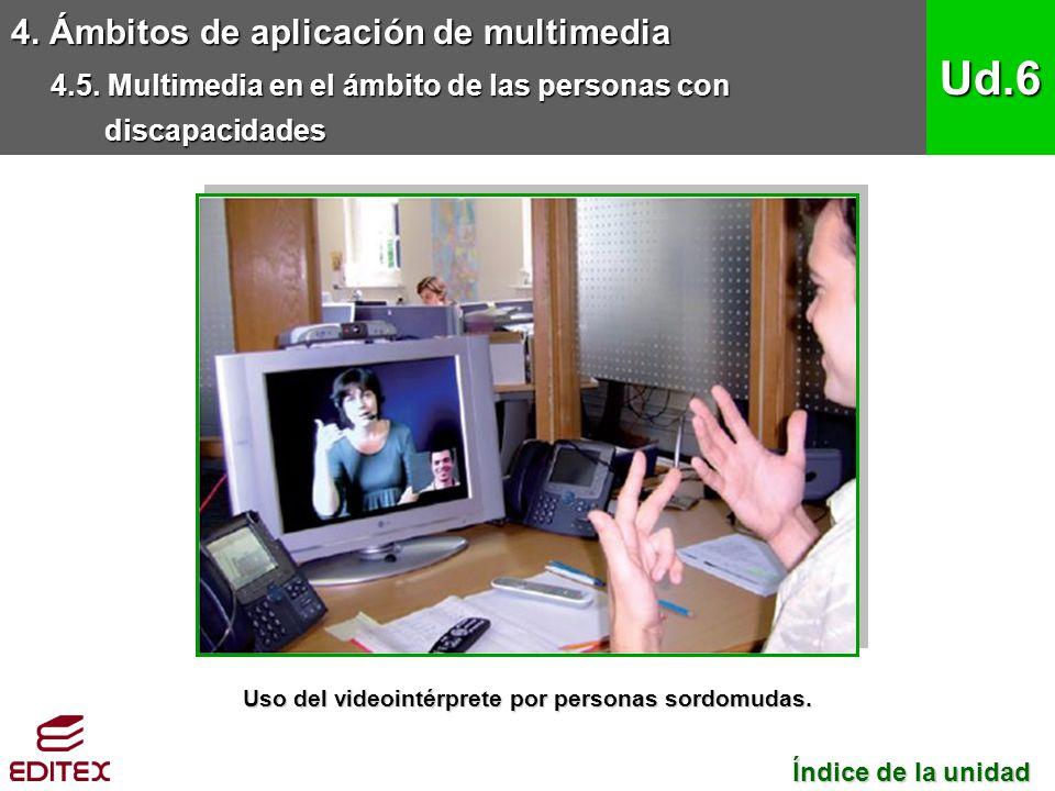 Uso del videointérprete por personas sordomudas.