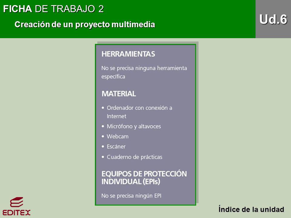 Ud.6 FICHA DE TRABAJO 2 Creación de un proyecto multimedia
