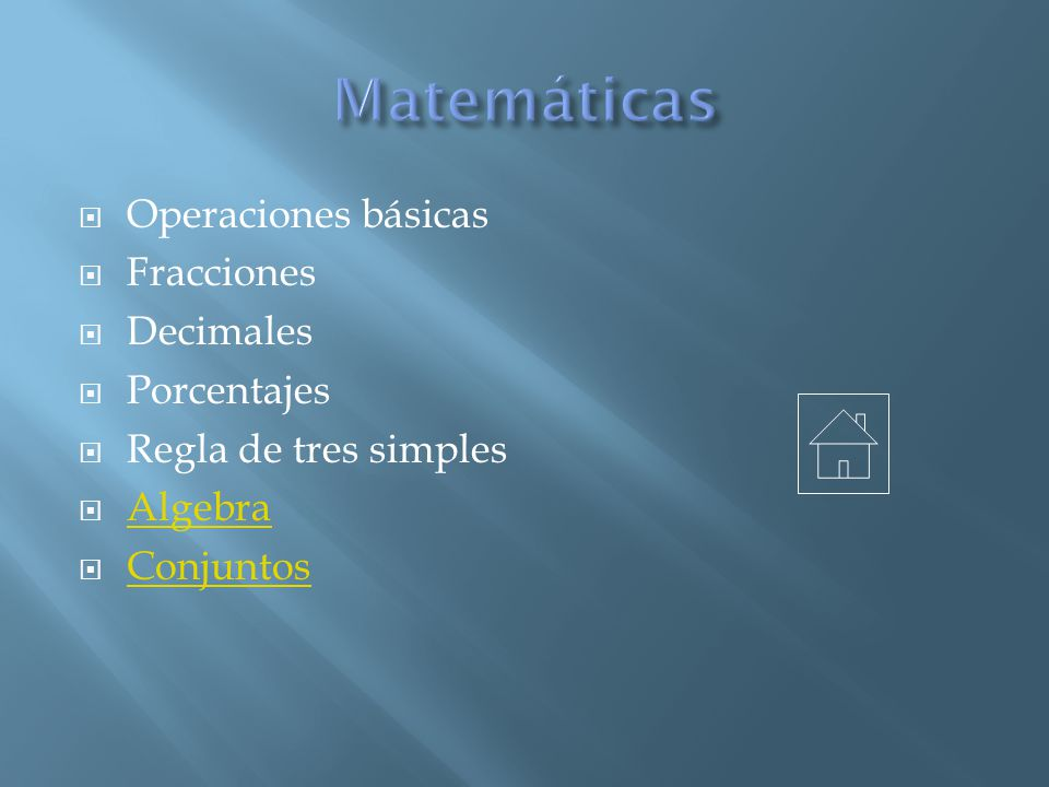 Matemáticas Operaciones básicas Fracciones Decimales Porcentajes