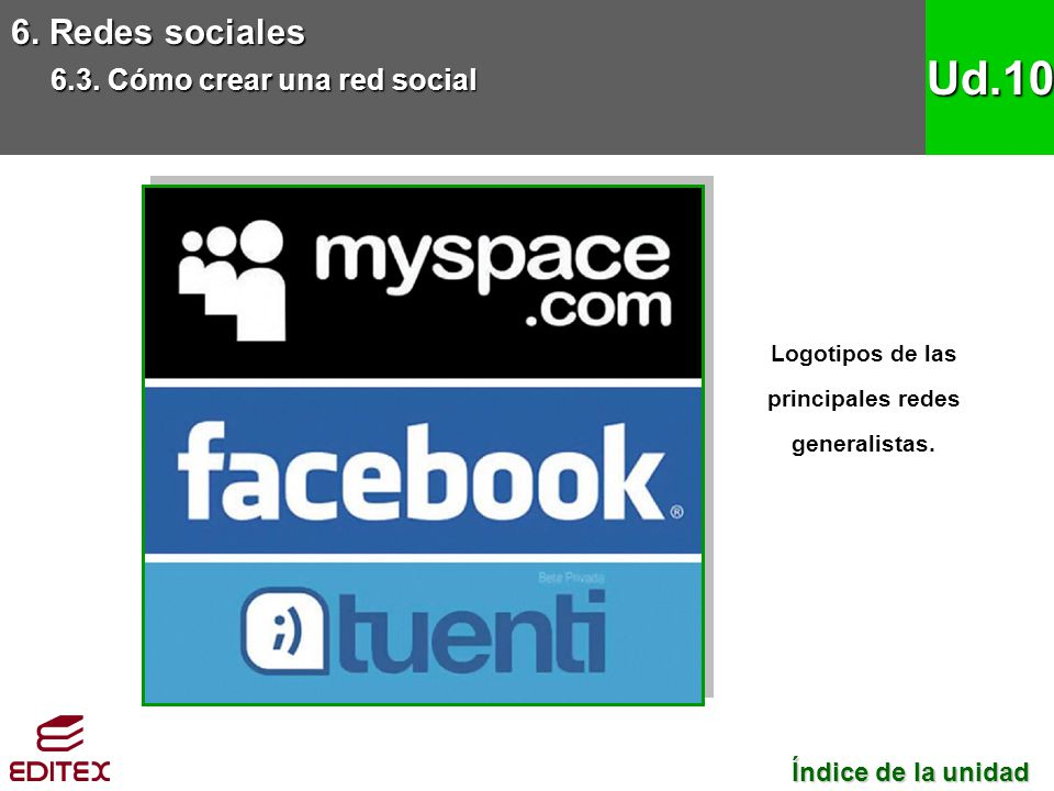 Logotipos de las principales redes generalistas.