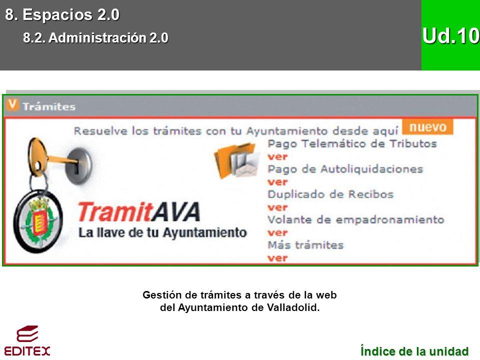 Gestión de trámites a través de la web del Ayuntamiento de Valladolid.