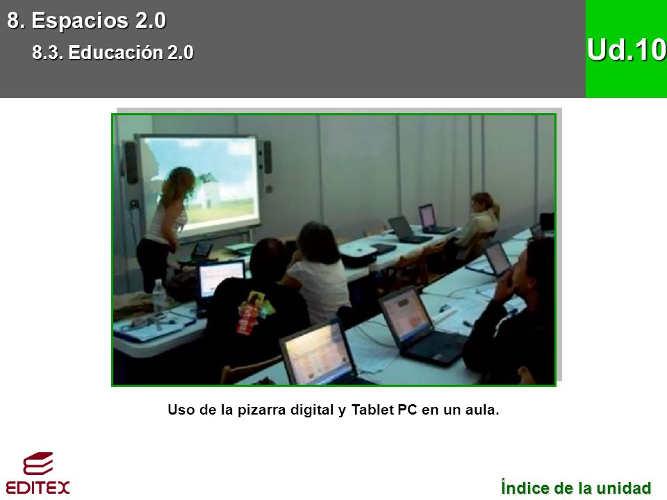 Uso de la pizarra digital y Tablet PC en un aula.