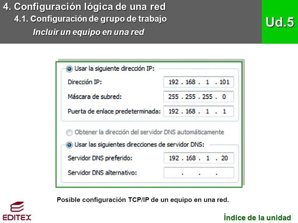 Ud.5 4. Configuración lógica de una red
