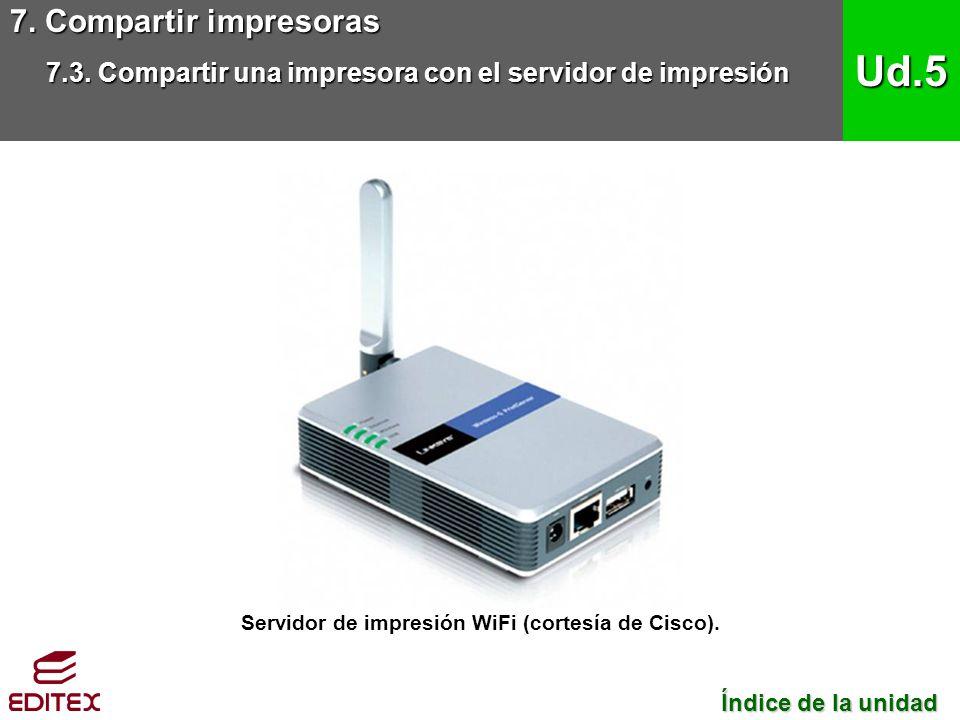 Servidor de impresión WiFi (cortesía de Cisco).