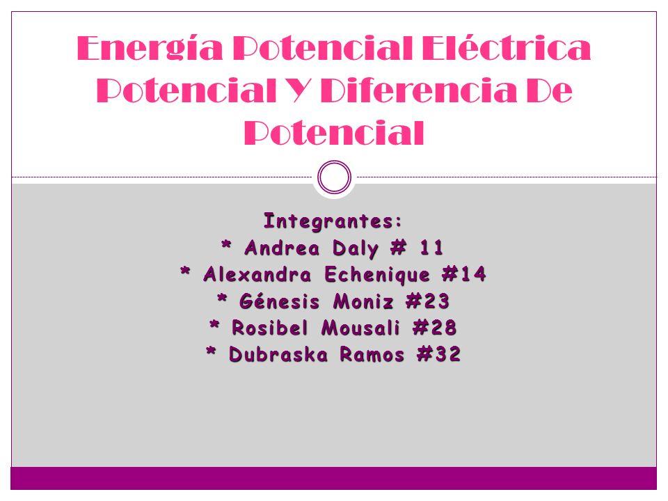 Energía Potencial Eléctrica Potencial Y Diferencia De Potencial