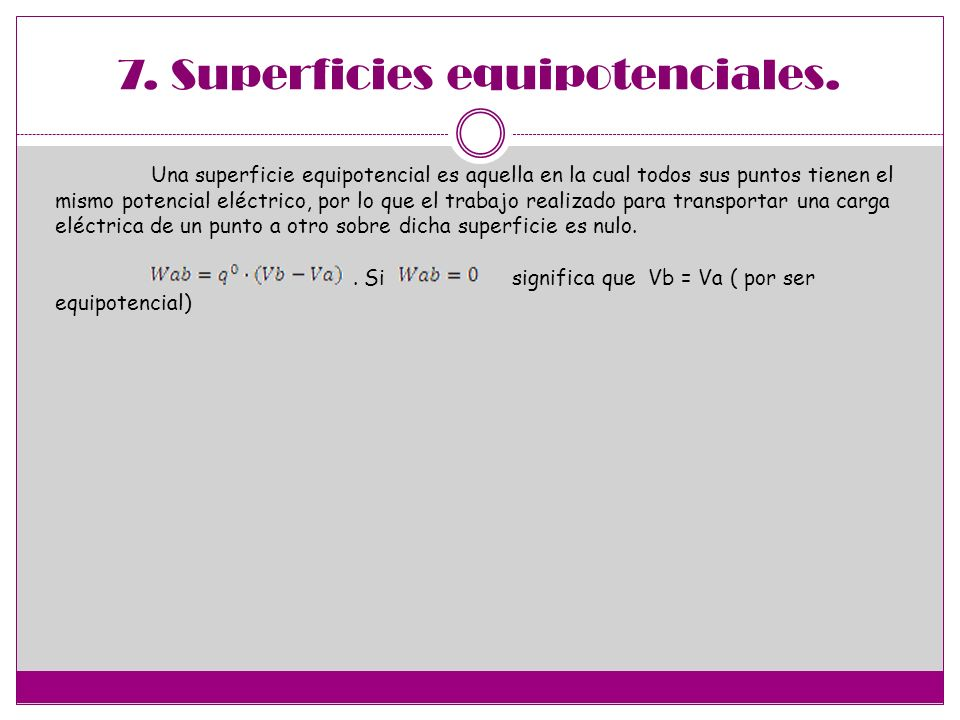 7. Superficies equipotenciales.