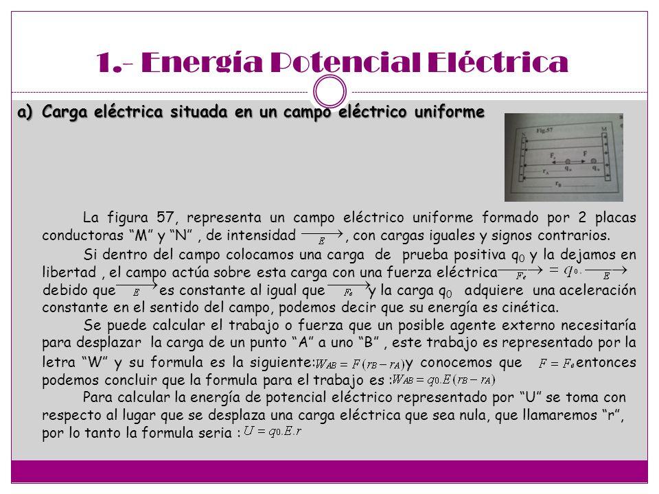 1.- Energía Potencial Eléctrica