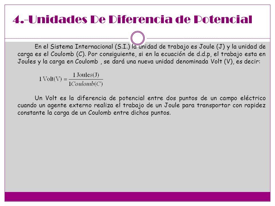 4.-Unidades De Diferencia de Potencial