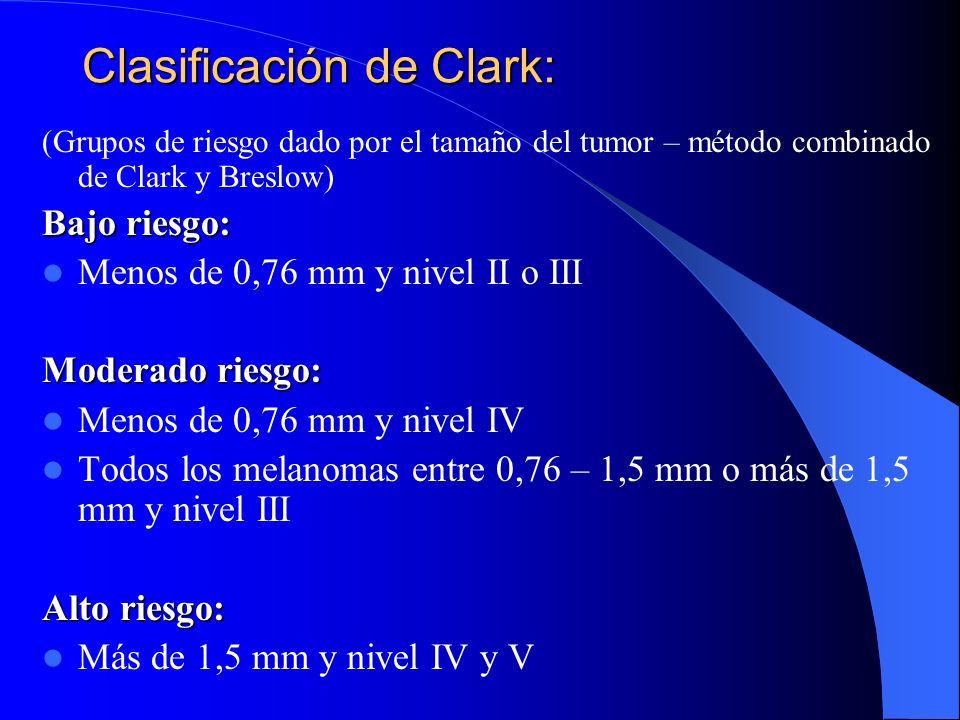 Clasificación de Clark: