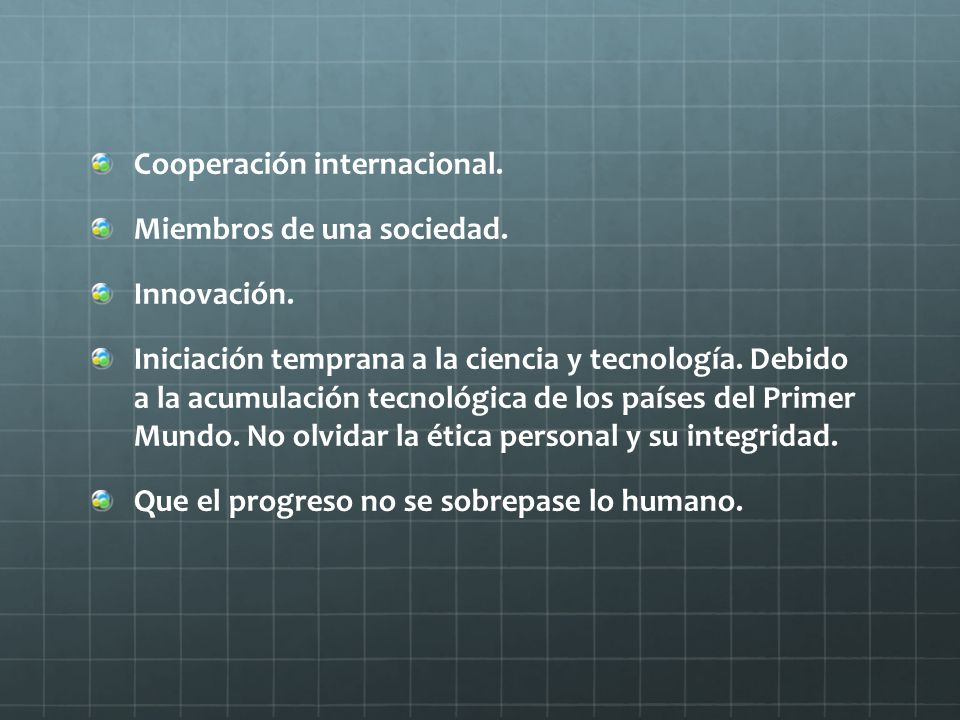 Cooperación internacional.