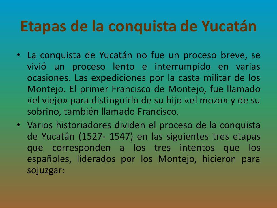 Etapas de la conquista de Yucatán