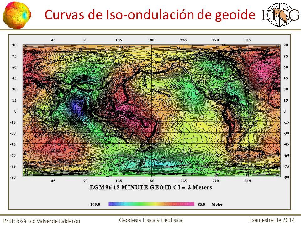 Curvas de Iso-ondulación de geoide