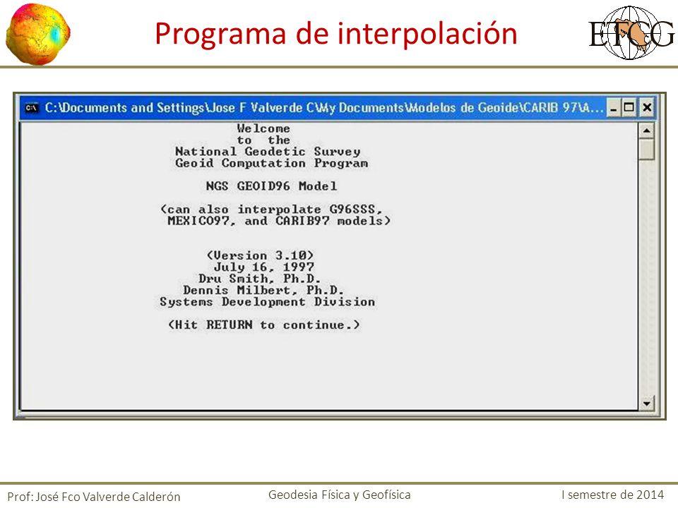 Programa de interpolación