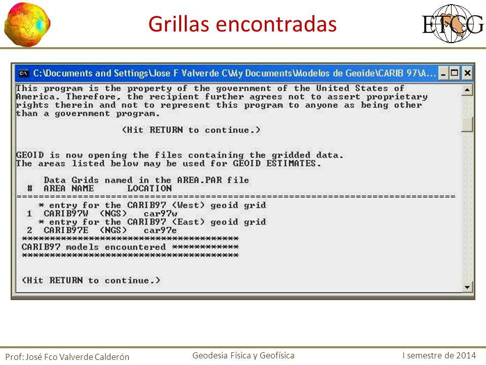Grillas encontradas Prof: José Fco Valverde Calderón
