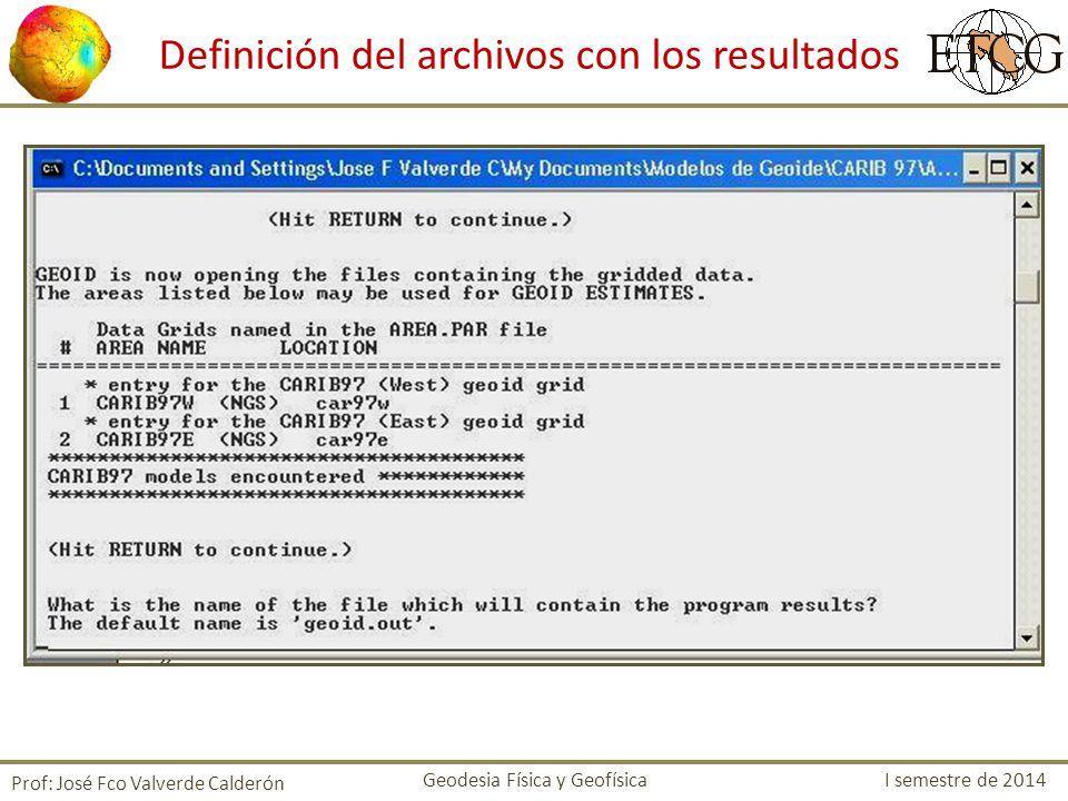 Definición del archivos con los resultados