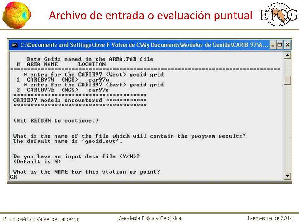 Archivo de entrada o evaluación puntual