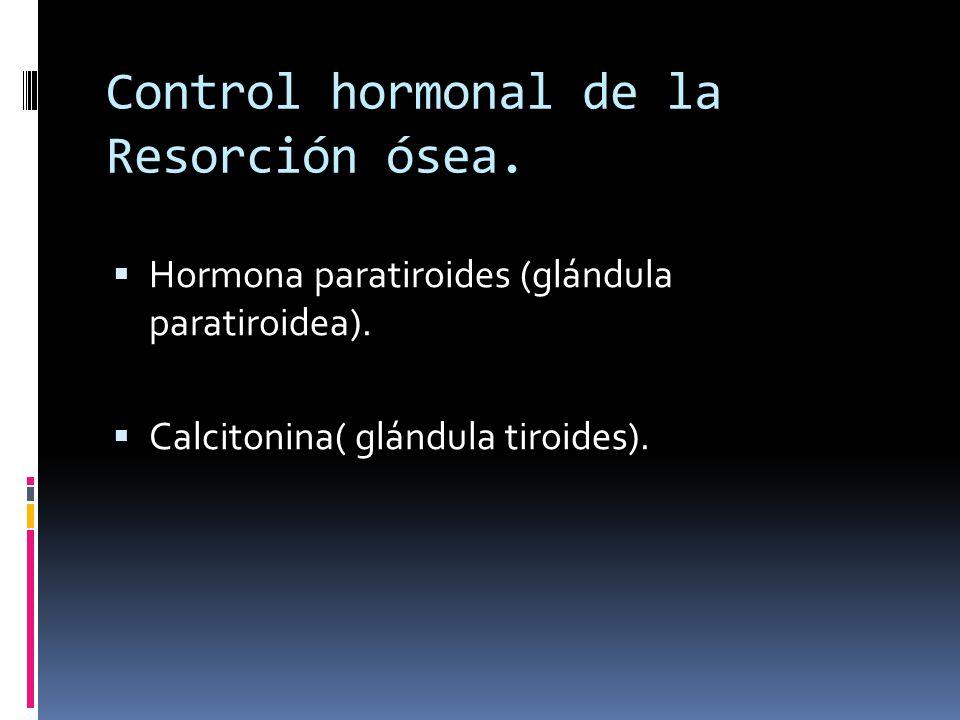 Control hormonal de la Resorción ósea.