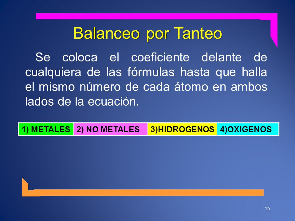 Balanceo por Tanteo
