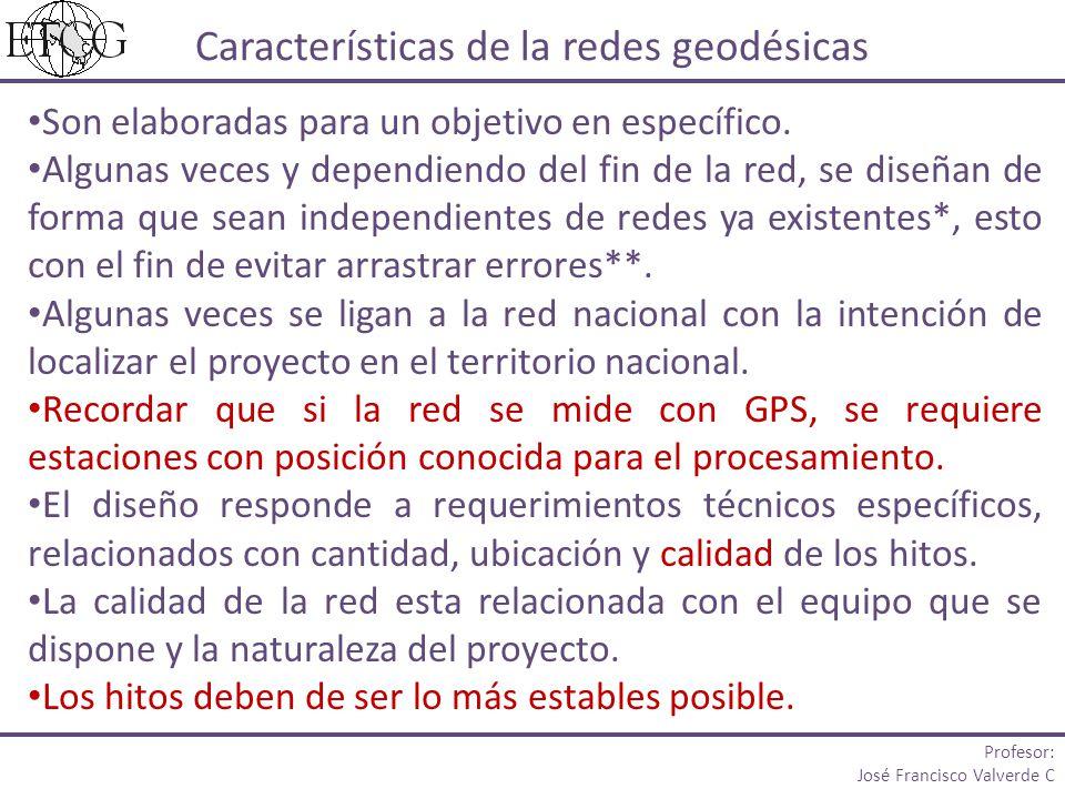 Características de la redes geodésicas
