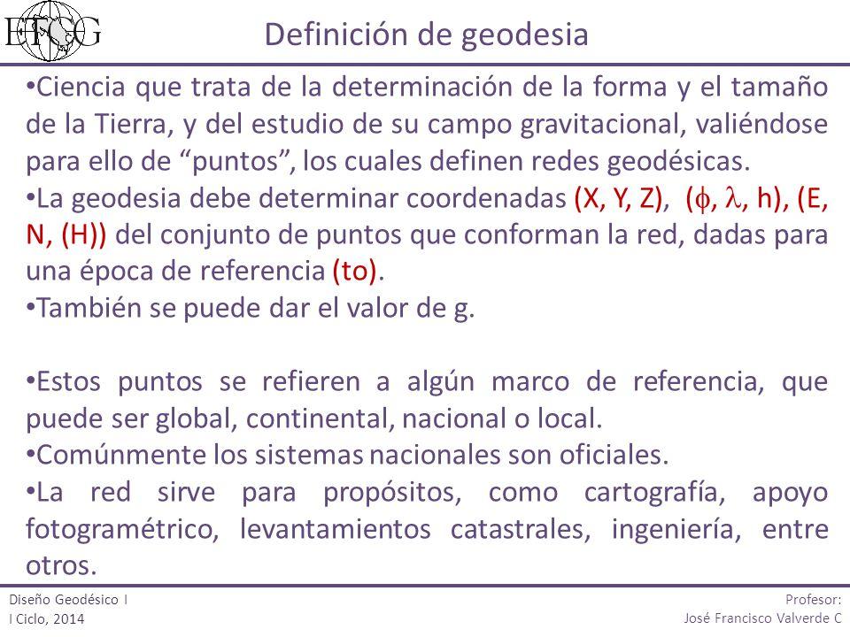 Definición de geodesia