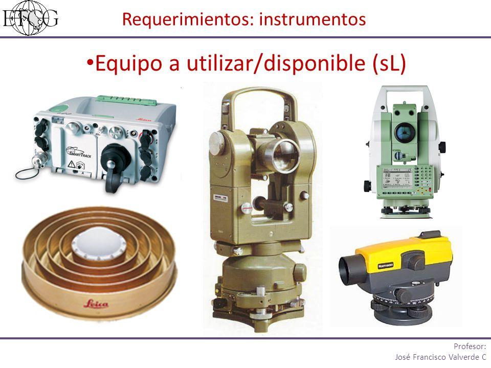 Requerimientos: instrumentos