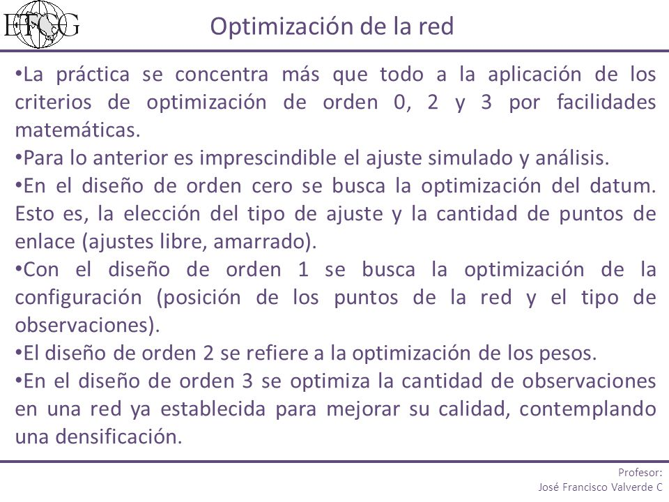 Optimización de la red