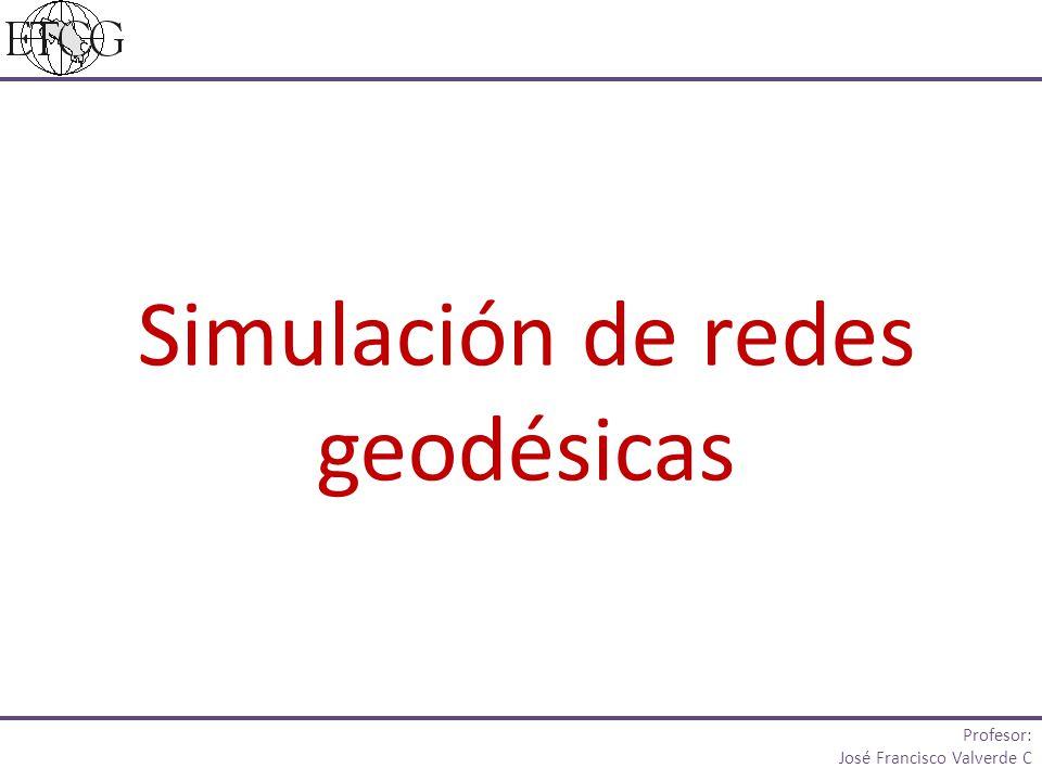 Simulación de redes geodésicas