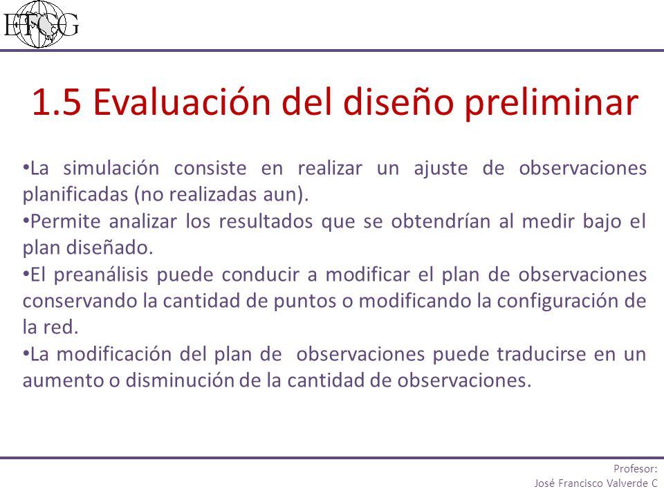 1.5 Evaluación del diseño preliminar