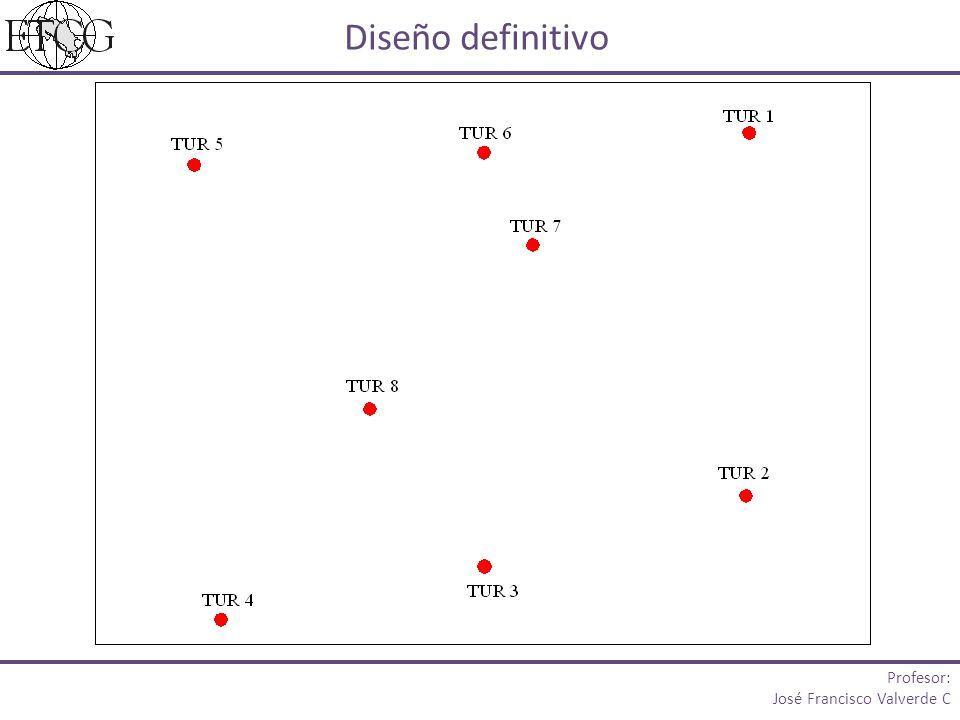 Diseño definitivo Profesor: José Francisco Valverde C