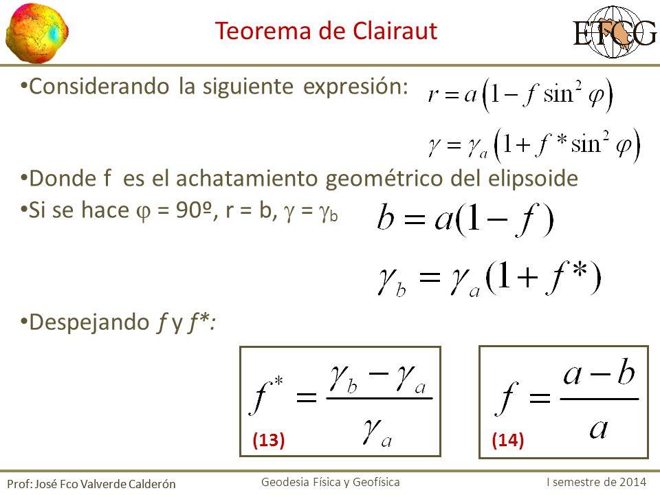 Teorema de Clairaut Considerando la siguiente expresión: