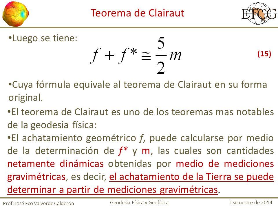 Teorema de Clairaut Luego se tiene: