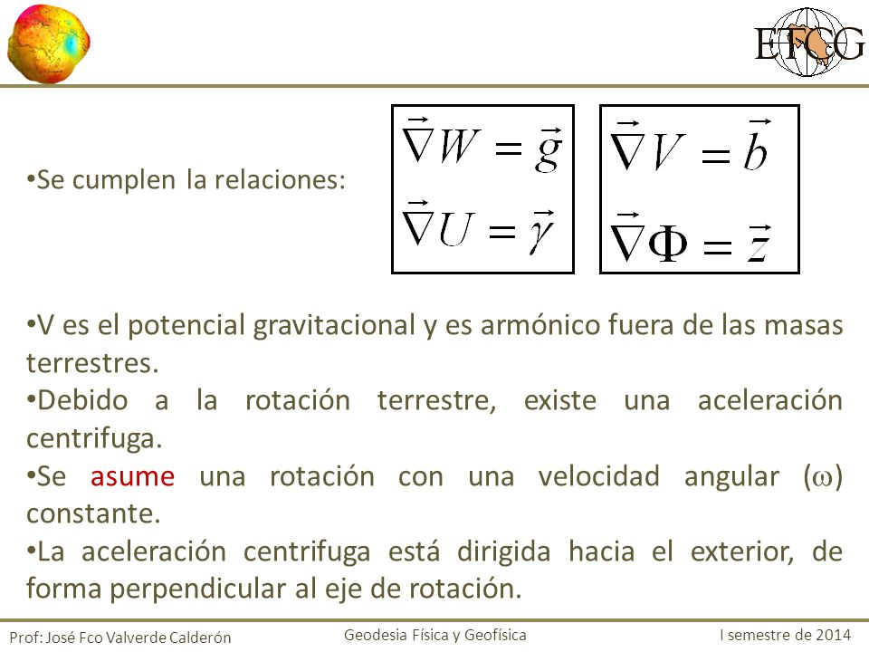 Debido a la rotación terrestre, existe una aceleración centrifuga.