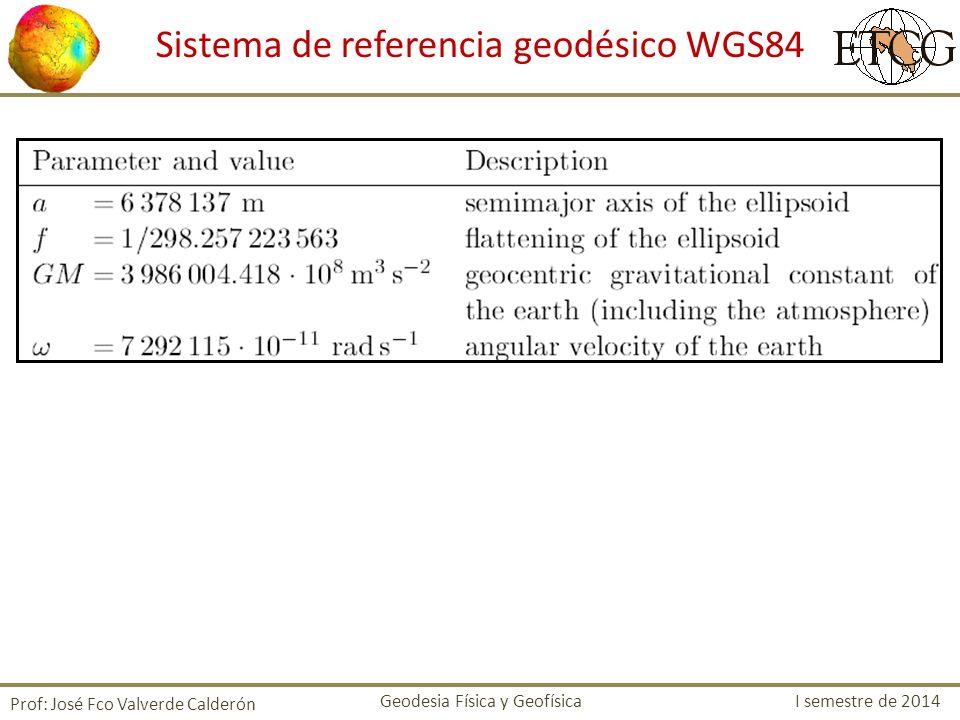 Sistema de referencia geodésico WGS84
