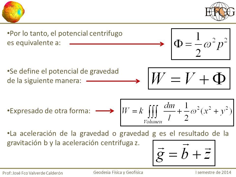 Por lo tanto, el potencial centrifugo es equivalente a: