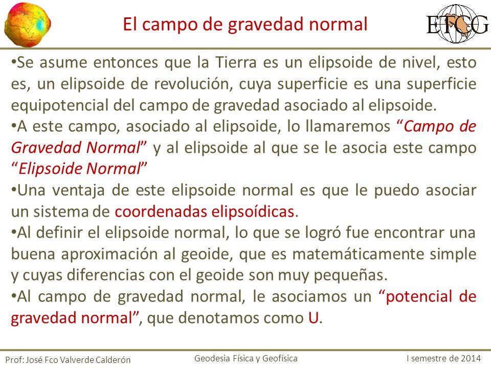 El campo de gravedad normal