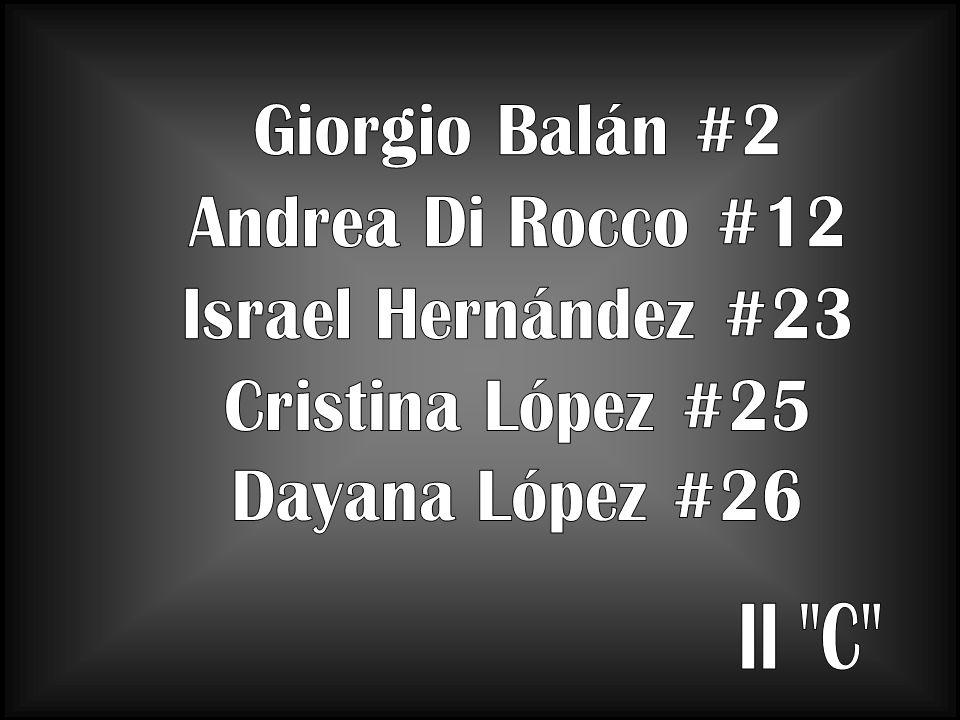 II C Giorgio Balán #2 Andrea Di Rocco #12 Israel Hernández #23