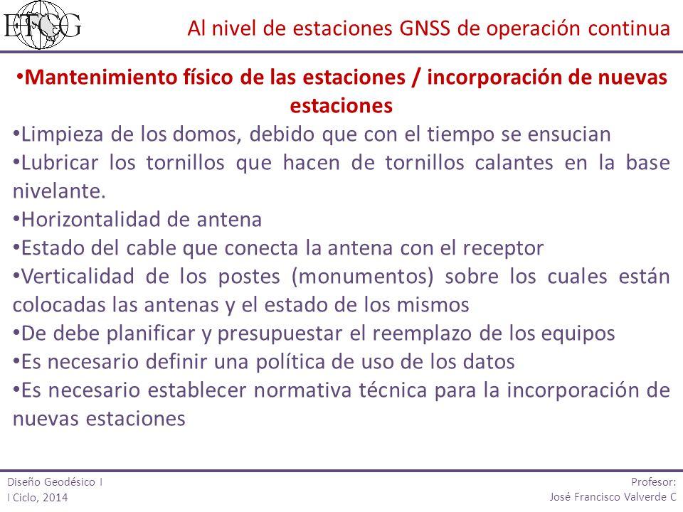 Al nivel de estaciones GNSS de operación continua