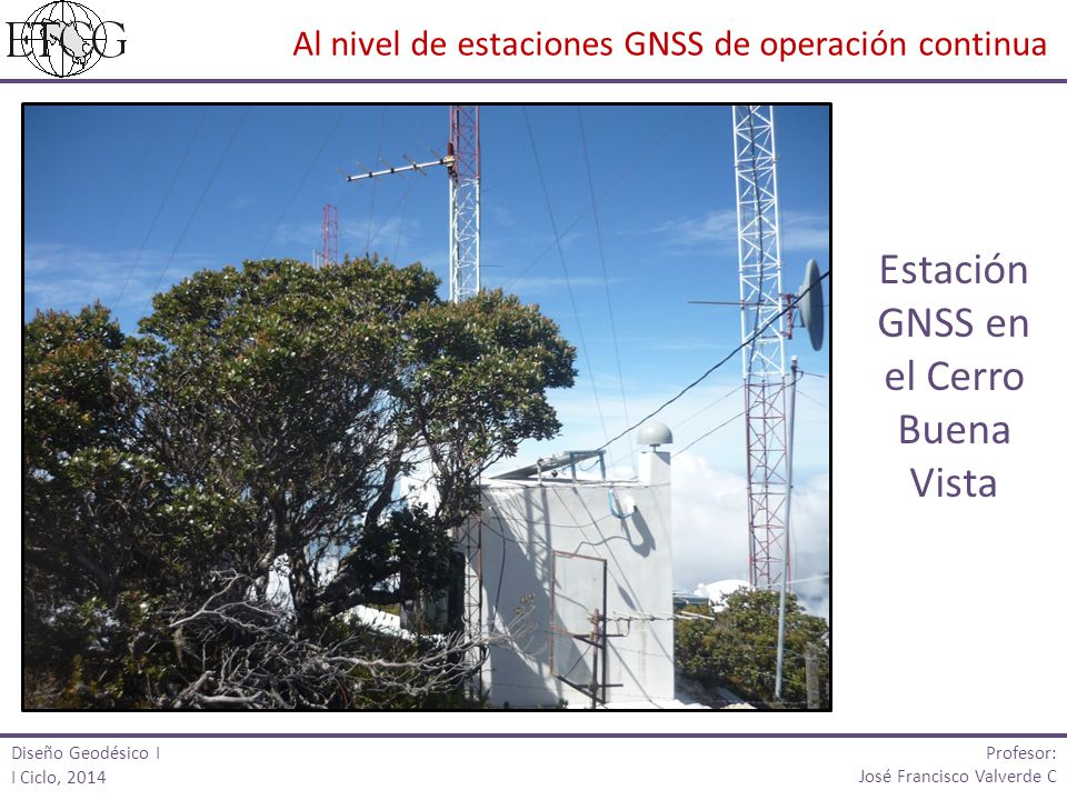 Estación GNSS en el Cerro Buena Vista