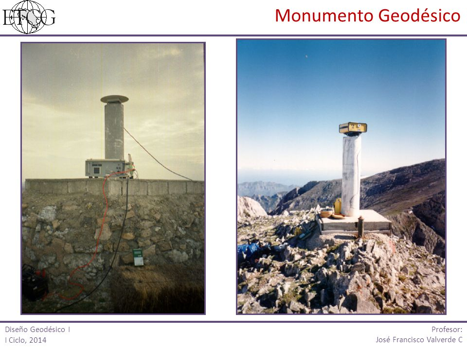 Monumento Geodésico Profesor: Diseño Geodésico I I Ciclo, 2014