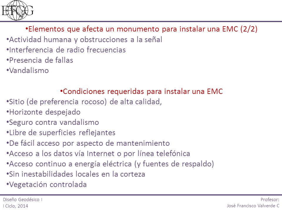 Elementos que afecta un monumento para instalar una EMC (2/2)