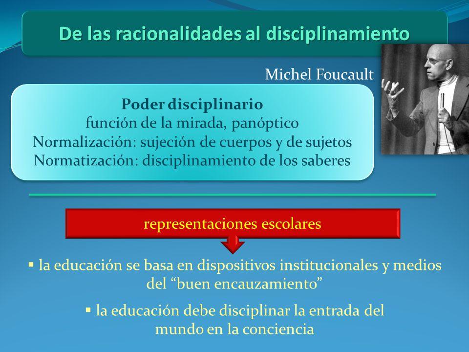 De las racionalidades al disciplinamiento