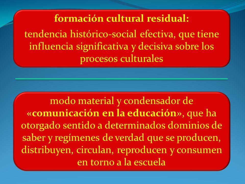 formación cultural residual: